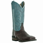 Laredo Ladies Mesquite Gaucho Nutty Mule/Light Blue Fashion Leather Boots 5627