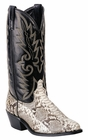 Laredo Mens Genuine Python Foot Natural Leather Boots 6751