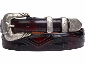 Lucchese Black Cherry Goat Belt W2212S
