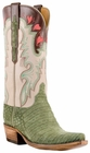 Lucchese Classic Lucchese Classic with Cooledge Stitch Pattern and Collar Olive Suede Caiman L4148