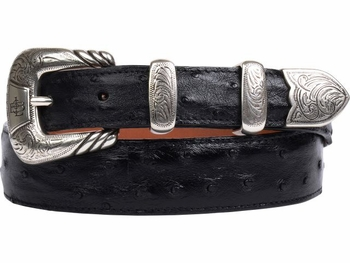 Lucchese Full Quill Pin Ostrich Belt W6012