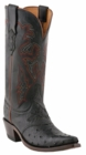 "Women's Lucchese ""Augusta"" Black Full Quill Ostrich Boots M5602"