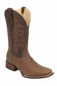 Men's Circle G by Corral Basic Tan/Chocolate Square Toe Boot