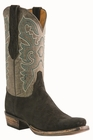 Men�s Lucchese Classic Black Sueded Elephant with the Raja Stitch Design L1446