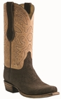 Men�s Lucchese Classic Chocolate Sueded Elephant with the Raja Stitch Design L1444