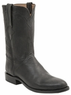 Men's Lucchese Classics Black Burnished Goat Leather Roper Boots L3571