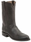 Men's Lucchese Classics Chocolate Burnished Goat Leather Roper Boots L3572
