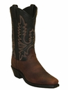 """<Font size=5 color=""""red""""><b>></b></Font>Mens Abilene Brown/Black Two-Tone Western Boots #6560"""
