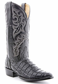Mens Circle G by Corral Black Caiman Belly Boots BL04016