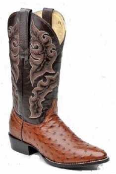 Mens Circle G by Corral Cango Tobacco Full Quill Ostrich Boots 010260