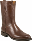 Mens Lucchese Classics Antique Brown Buffalo Calf Roper Custom Hand-Made Leather Boots L3540