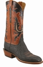 Mens Lucchese Classics Black African Elephant Custom Hand-Made Cowboy Boots L1353