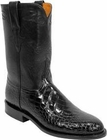 Mens Lucchese Classics Black Belly American Alligator Custom Hand-Made Roper Boots L3021