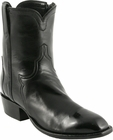 Mens Lucchese Classics Black Calf Custom Hand-Made San Antonio Dress Collection Pony Boots F5054