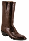 Mens Lucchese Classics Black Cherry Alligator Belly Custom Hand-Made Cowboy Boots L1066