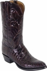 Mens Lucchese Classics Black Cherry Alligator Belly Custom Hand-Made Cowboy Boots L1078
