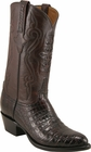 Mens Lucchese Classics Black Cherry Caiman Crocodile Belly Custom Hand-Made Cowboy Boots L1253