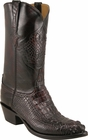 Mens Lucchese Classics Black Cherry Hornback American Alligator Custom Hand-Made Cowboy Boots L1012