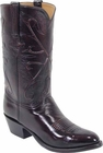 Mens Lucchese Classics Black Cherry Kangaroo Custom Hand-Made Cowboy Boots L1500