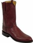 Mens Lucchese Classics Black Cherry Ranch Hand Custom Hand-Made Roper Boots L3528