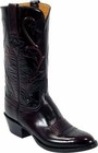 Mens Lucchese Classics Black Cherry Roma Goat Custom Hand-Made Cowboy Boots L1514