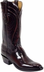 Mens Lucchese Classics Black Cherry Seville Goat Custom Hand-Made Cowboy Boots L1505