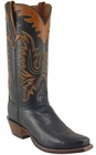 Mens Lucchese Classics Black Cutter Custom Hand-Made Cowboy Boots L8001