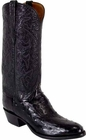 Mens Lucchese Classics Black Full Quill Ostrich Custom Hand-Made Cowboy Boots L1169