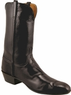 Mens Lucchese Classics Black Glove Calf Custom Hand-Made Cowboy Boots L1530