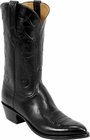 Mens Lucchese Classics Black Glove Calf Custom Hand-Made Cowboy Boots L1532