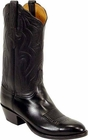 Mens Lucchese Classics Black Glove Calf Custom Hand-Made Cowboy Boots L1550