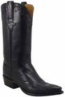 Mens Lucchese Classics Black Glove Calf Custom Hand-Made Cowboy Boots L1607
