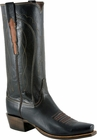 Mens Lucchese Classics Black Glove Calf Leather Custom Hand-Made Boots L1679
