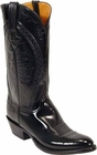 Mens Lucchese Classics Black Hobby III Goat Custom Hand-Made Cowboy Boots L1510