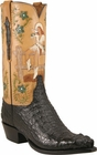 Mens Lucchese Classics Black Hornback Caiman Crocodile Custom Hand-Made Cowboy Boots L1364