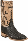 Mens Lucchese Classics Black Hornback Caiman Crocodile Custom Hand-Made Cowboy Boots L1368