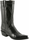 Mens Lucchese Classics Black Kangaroo Custom Hand-Made Cowboy Boots L1663