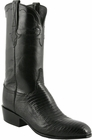 Mens Lucchese Classics Black Lizard Custom Hand-Made San Antonio McKay Collection Cowboy Boots L9401