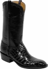 Mens Lucchese Classics Black Nile Crocodile Belly Custom Hand-Made Cowboy Boots L1256