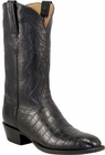 Mens Lucchese Classics Black Nile Crocodile Belly Custom Hand-Made Cowboy Boots L1371