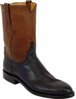Mens Lucchese Classics Black Ranch Hand Custom Hand-Made Roper Boots L3516