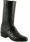 Mens Lucchese Classics Black Regal Ultra Belly Crocodile Custom Hand-Made San Antonio McKay Collection Cowboy Boots L9476
