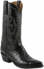 Mens Lucchese Classics Black Ultra Caiman Belly Hand-Made Cowboy Boots E2147