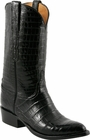 Mens Lucchese Classics Black Ultra Crocodile Belly Custom Hand-Made Cowboy Boots L1420