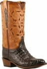 Mens Lucchese Classics Chocolate Caiman Crocodile Belly Custom Hand-Made Cowboy Boots L1398