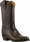 Mens Lucchese Classics Chocolate Caiman Crocodile Belly Custom Hand-Made Cowboy Boots L1403