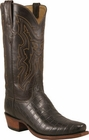 Mens Lucchese Classics Chocolate Nile Crocodile Belly Custom Hand-Made Cowboy Boots L1370