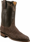 Mens Lucchese Classics Chocolate Sueded Elephant Custom Hand-Made Roper Boots L3145