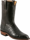Mens Lucchese Classics Chocolate Ultra Belly Crocodile Custom Hand-Made Roper Boots L3153