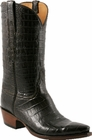 Mens Lucchese Classics Chocolate Ultra Crocodile Belly Custom Hand-Made Cowboy Boots L1419